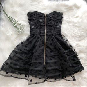 Betsey Johnson Dress Black Polka Dot Fit & Flare 2